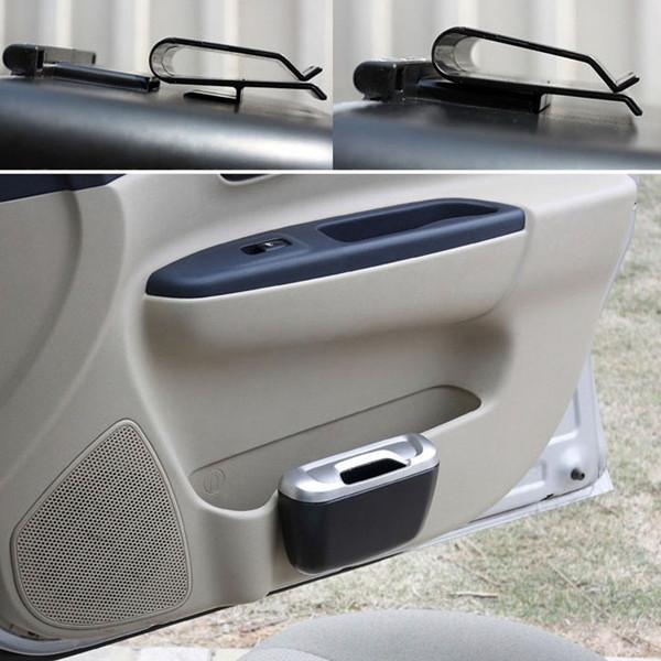2PCS Car Multifunctional Can Hang Type Car Garbage Bucket Glove Car Bucket Car Trash FZ2116 Free Shipping(China (Mainland))
