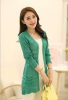 2014 new spring women Korean cultivating sunscreen long sweater cardigan sweater  WO910
