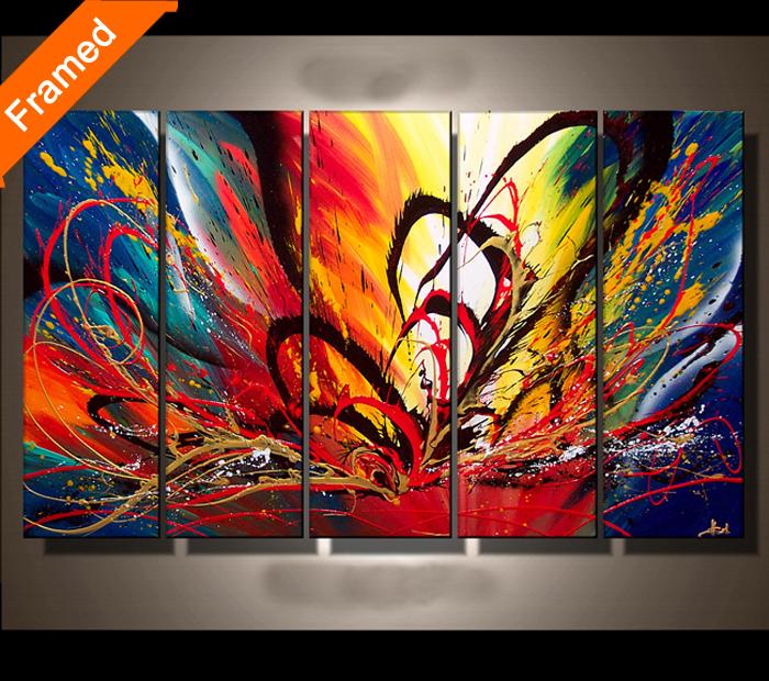 kleurrijke canvas schilderij voor slaapkamer fashion foto kleur ...