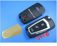 New Stylish Replacement Shell Flip Folding Remote Key Case Keyless Entry Housing FOB 3+1 Button for KIA Sorento Lotze