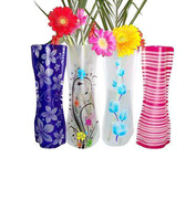 Free Ship  pvc foldable plastic vase( big size,can choose style,18cm*27cm ) fashion Home Decoration low carbon vase 500 pcs/ctn