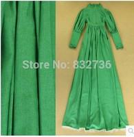 2014  Autumn Europe Fashion designer woman vintage ruffled collar bodycon dress women long sleeve maxi dress Plus size S M L