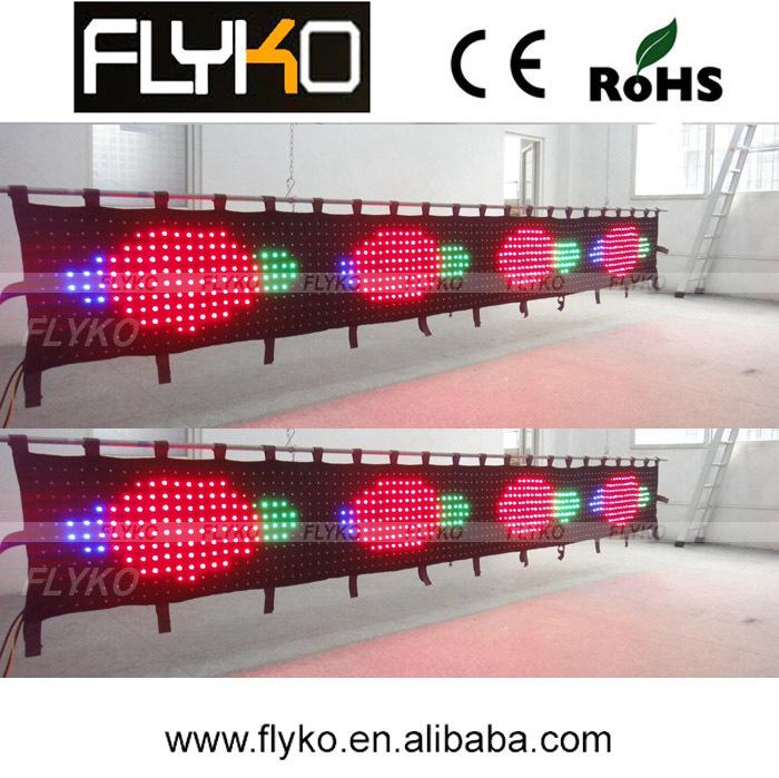 Free shipping advertising LED matrix screen LED curtain(China (Mainland))