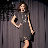 8575 circle style incense cuff one-piece dress