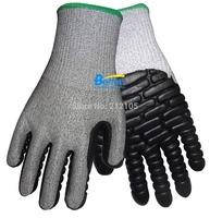 Cut Resistant Work Gloves Anti-Vibration  Shock Absorbing Gloves Impact Resistant Gloves Anti Shock Work Gloves