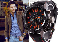2014 Luxury Brand New Oversized Sport Watch Men Wild Analog Quartz Military Watch Wristwatch V6 Fashion Black Hour