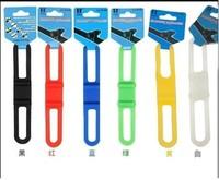 Cycling Bike Bicycle Bike Silicone Elastic Strap Bandage For Flashlight MP3 Flashlight Mount Holder BL