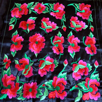 1 pcs 40*41cm flower patch home decoration Diy handmade flower embroidery fabric sew-on patch embroidered flower applique