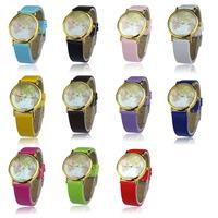 2014 New Superb Womens Retro World Map Design Leather Alloy Band Analog Quartz Wrist Watch Free Shipping&Wholesale Alipower