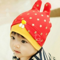 One Pcs Baby Girl Boy Cute Rabbit Beanies Cap Cute Skullies Children Cotton Cap Hat Cartoon Bunny Ears Hat Cap 8 Colors
