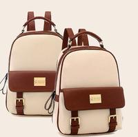 mochila rushed new 2014 fashion women backpacks patchwork bear girl student school bags pu leather travel rucksack free shipping