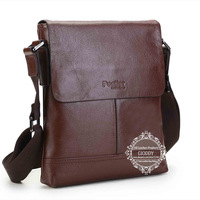Luxury 2014 new fashion Men's leather shoulder bags brown leather men's bag wholesale casual bags JM-8368-4 Freeshipping