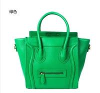 2014 new female bag diagonal package smiley package embarrassing number macarons colored handbag