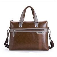 2014 Fashion Classic Soft Leather Laptop Handbag Men Messenger Bags Vintage PU Leather Briefcase Men Travel Bags (NSB-034)