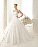 2014 New Arrival High Quality Elegant Women Ball Gown Sweetheart Luxury Noble Waves Trail Wedding Dresses Bridal Gowns