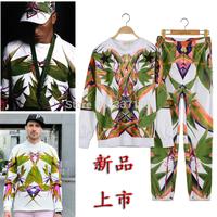 2014 men sportswear bamboo heaven bird sport suit men tracksuits hoodies+pants one set clothing 2 pic/lot brand sweatshirt men