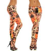 New Women Sexy Print Tattoo Jean Look Legging Sport Leggins Punk Fitness American Apparel Jeans Woman Pants 9075