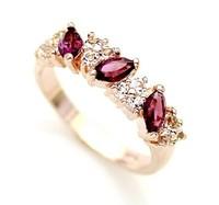 Atmospheric shining wheat grain Crystal Ladies Ring fashion rings
