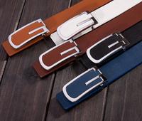 Men Belt Brand Luxury Designer Belts Men High Quality 2014 Cintos Femininos Male Faux Leather Whtie Black Coffee Brown