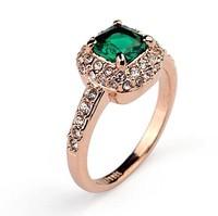 Atmospheric sparkling zircon ring for female fashion rings
