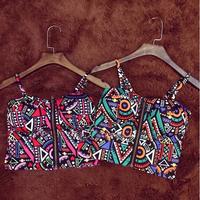 Blusas Femininas 2014 Women T-Shirt Casual Spaghetti Strap Bra Bustier Corsets Camisole Crop Top Blusa Free Shipping WTN041