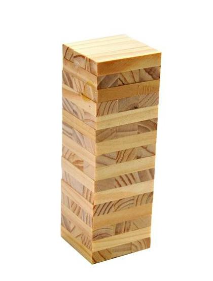 Mini Jenga Wood Stacked Bricks 48 Bricks Table Game(China (Mainland))