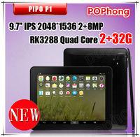 Original mini Pad Pipo P1 RK3288 Quad Core Tablet PC 9.7inch Retina 2048x1536 2G RAM 32GB ROM Android 4.4  GPS 10000mAh
