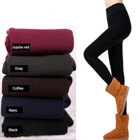 2014 New arrival high quality girls / women winter thick warm colored velvet pants Elastic Stirrup Leggings Wholesale
