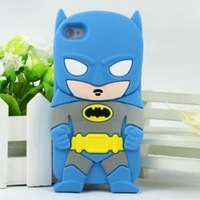 Brand luxury silicon case Batman spiderman super man Silicone Back Cover Case For Apple iPod Touch 4 /4G touch 5 5 Free Shipping