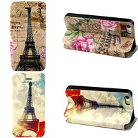 New 1XFashion Paris Eiffel Tower Pattern Leather Case Cover for iphone 5 5S 5G Tonsee