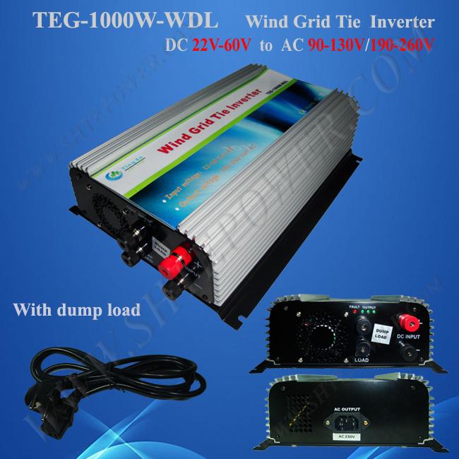 wind turbine grid tie inverter 1000w dc 22-60v to ac 110v/240v(China (Mainland))