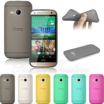 Hot Sale Ultra Slim Frosted Matte Gel TPU Back Smart Phone Case Cover Soft Skin For HTC One Mini 2 Free Shipping(China (Mainland))