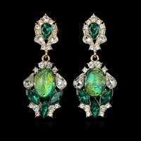 Hot Sale! 2014 Expensive Unique Color Bling Glass Distinctive Earrings Shiny Your Life EZ0182