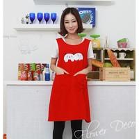 Ran through the grid Jaca shipping fashion cute cat nail shop coffee nursery overalls Korean kitchen aprons