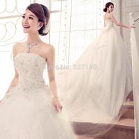 2014 sweet wedding retro band bra Korean Princess tailing bow bride