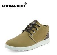 2014 Fashion winter warm men sneaker Polished flock seude casual shoes