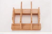 New coming 100% nature bamboo multifunctional kitchen tools storage chopping block rack cutting board holder knife shelf