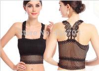 2014 new Women Lace Sweet Candy Color wave Blouse chiffon vest spaghetti strap vest shirt