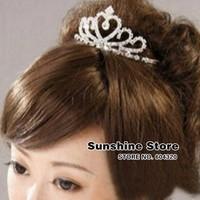 Wedding accessories charms Hair clips for women&girl Wedding Quinceanera Tiaras infantil Rhinestone hair Crown #8z035 10pcs/lot