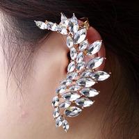 Hot sale Fashion  crystal  Stud Earrings women,Ear cuff Earrings,