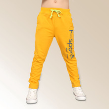 Boys fashion sports letters printing long pants 2014 school kids children teenage autumn casual trouserst wholesale 4-12 years(China (Mainland))