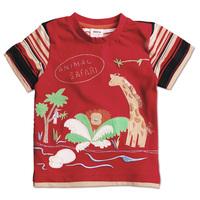 2014 New arrival nova kids children sport with tiger and giraffe carton cotton spring summer short T-shirt for baby boysC1712#