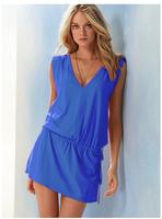 2014 hot Large plus size,oversize swimwear one-piece dress,spring summer women's swimwear,High waist swimsuit Swim suit