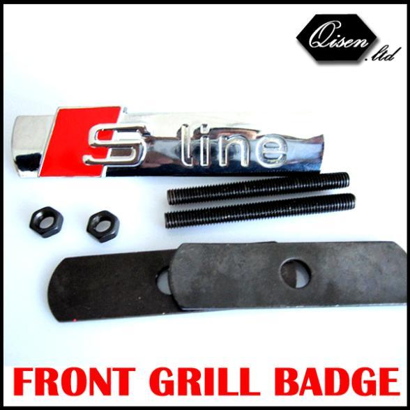 10 X S LINE Metal 3D SLINE Car Front Hood Grill Badge Emblem Logo Race sticker for A1 A3 A4 A5 A6 A7 A8 Q3 Q5 Q7 TT #SO014(China (Mainland))