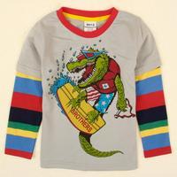NOVA  new hot fashion nova kids brand baby boys children clothing cotton spring long t shirt for baby boys A5043Y