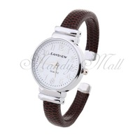 Women Quartz Movement Bracelet Wristwatch Wrist Watch White Dial Gift