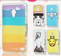 print drawings PC cover plastic cute cartoon case For  MEIZU MX2  + gift