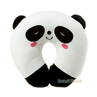 Car Headrest Interior U-shaped Pillow Cartoon Cute Panda Bunny Neck Decompression Pillow (NAT0NP12004-BW3)