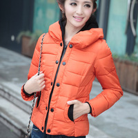 Real photo 2014 New lady hot sale thick coat women short overcoat plus size L,XL,XXL