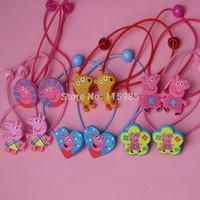12pcs/lot girl hair band Peppa Pig Hairband hair clip headwear baby children gift girl accessories free shipping